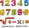 Colorful numbers set isolated on White background. Vector illustration - stock vector
