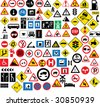 Different type of road signage - stock vector
