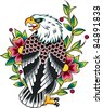 eagle heraldic tattoo - stock vector