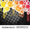 Eps10 Colorful Circles in Grunge Background Design - stock vector