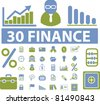 finance icons, vector - stock vector