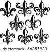 fleur de lys shield design - stock vector