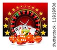 gambling illustration with casino elements - stock vector
