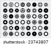 Gear Silhouettes - stock vector