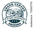 Grunge rubber stamp with the Grand Canyon, vector illustration - stock vector