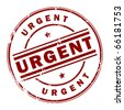Grunge rubber stamp with the text Urgent written inside the stamp, vector illustration - stock vector