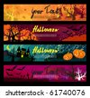 Halloween banners set. - stock vector
