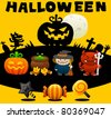 Happy Halloween | Cute vector illustration cartoon comic - stock vector
