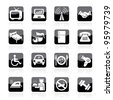 Hotel Icons - stock vector