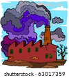 Industrial Pollution - stock vector
