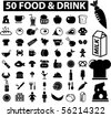 mega food & drink signs. vector - stock vector
