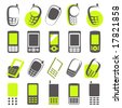 Mobile phones. Elements for design. Vector illustration. - stock vector