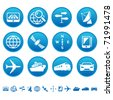 Navigation and transport icons - stock vector