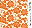 Seamless floral background. Repeat many times. Vector illustration. - stock vector