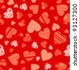 Seamless valentine pattern, vector illustration - stock vector