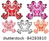 set of butterfly. Illustration - stock vector