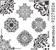 Set of elements for design on white - stock vector