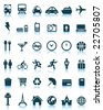 Set of 36 vector travel icons - stock vector