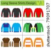 Shirt long sleeves. vector template design - stock vector