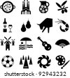 Spain pictograms - stock vector