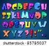 Sparkling alphabet - stock vector
