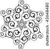 Swirly snowflake - stock vector
