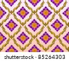 thai lotus pattern background - stock vector