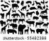 vector animals silhouettes - stock vector