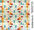 Vector background with bottles and wine glasses. Good for restaurant or bar menu design - stock vector