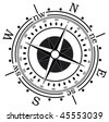vector compass - stock vector