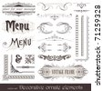 Vector decorative ornate design elements & calligraphic page decorations - stock vector