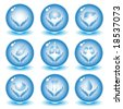 Vector medical icons. Blue set. Simply change. Other medical icons you can see in my portfolio. - stock vector