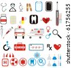 VECTOR - More than 40 Medical Icons Set - stock vector