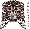 Vector of Ancient Chinese Traditional Monster lion head Pattern - stock vector