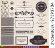 vector set: calligraphic design elements and page decoration - lots of useful elements to embellish your layout, seamless ornaments for vintage backgrounds - stock vector