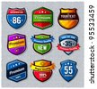Vector set of retro badges. - stock vector