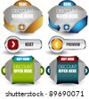 web banners and button collection - stock vector